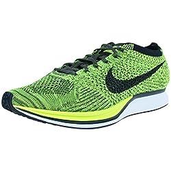 Nike Flyknit Racer, Zapatillas de Running para Hombre, Verde (Volt/Black-Sequoia), 40 EU
