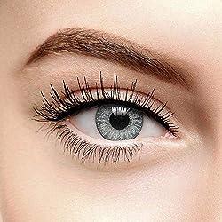 Chromaview Lentilles de Contact Colorées Gris Nuage Orageux 2 Tons (90 Jours) - Sans Correction