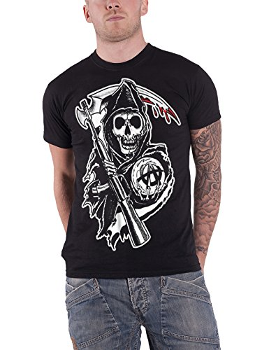Sons of Anarchy T Shirt Reaper Crew Classic SOA Logo offiziell Herren Nue