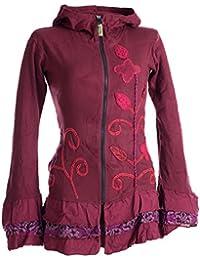 e557d48a552862 Vishes – Alternative Bekleidung – Handbestickte Blumen Sommerjacke aus  Baumwolle mit Zipfelkapuze und…