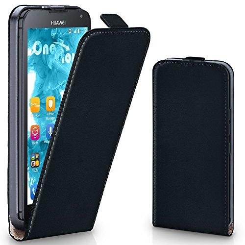 moex Huawei Ascend Y530 | Hülle Schwarz 360° Klapp-Hülle Etui thin Handytasche Dünn Handyhülle für Huawei Y530 Case Flip Cover Schutzhülle Kunst-Leder Tasche