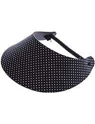 """XFORE visière soleil """"Isay"""" casquette de golf sport tennis pour femmes avec motif à pois, taille unique"""