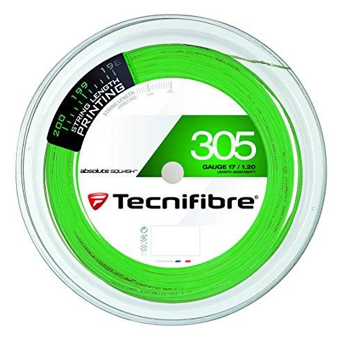 TECNIFIBRE Squashsaite  305 SQUASH Green, 1,20mm,  200m Rolle, 122372 Test