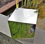 Dekorations-Quader Würfel 40x40x40 cm Edelstahl poliert Dekoquader