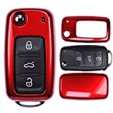 Klapp Schlüssel Cover Hülle VW UP Golf Polo Seat Ibiza Skoda Octavia Yeti/Farbe: Metallic Rot