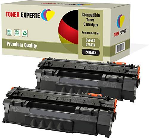 2er-Pack TONER EXPERTE® Premium Toner kompatibel zu Q5949X Q7553X für HP Laserjet 3390 3392 1320 1320n 1320tn 1320nw M2727nf M2727nfs MFP P2014 P2015 P2015d P2015dn P2015x