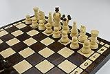Hecho a mano juego de ajedrez madera 31x 31Figuras woodeeworld