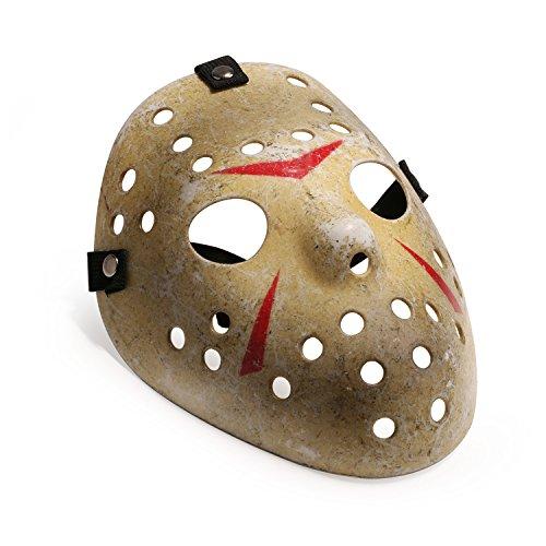 Imagen de máscara para disfraz de halloween, diseño de hockey niño, amarillo  alternativa