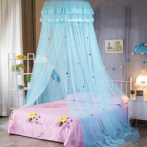 Y·z Kinder Elegante Tulle Bed Dome Bett Netting Baldachin Rund Pink Round Dome Bettwäsche Moskitonetz für Twin Queen King Bett @ 250 * 60cm_A -