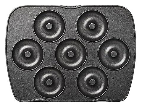 lagrange Jeu de plaque Mini-donuts /Mini Bagels pour Gaufrier Premium Noir