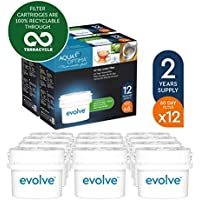 Aqua Optima EVD912 Evolve - Paquete de 2 años, filtros de agua de 12 x 60 días, fit BRITA Maxtra (no * Maxtra +). surtido: embalajes aleatorios