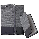 Cadorabo Book Case works with WIKO HARRY 2 in GREY BLACK -