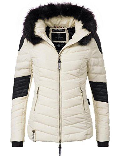 Marikoo Damen Winter Jacke Steppjacke Mamba (vegan hergestellt) Weiß Gr. M