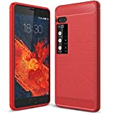 WEIFA MeiZu Pro7 Soft Carben Fiber Case, Very Light Slim Lines Style Soft Good Hand Feeling, 2018 Newest Anti-Drop Protection Cellphone Cover Case For MeiZu Pro 7 Red