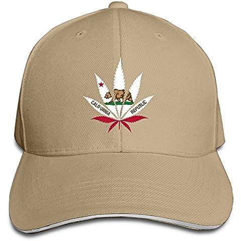 T yuuk California bandera ajustable sandwich caza Gorra de Visera y sombrero