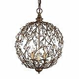 ZQ@QX Lampadario Sala da pranzo di elegante illuminazione casa decorazioni paese retrò sfera a forma di albero soggiorno camera da letto, oggetto d'antiquariato - QIAN Lampadario a bracci - amazon.it