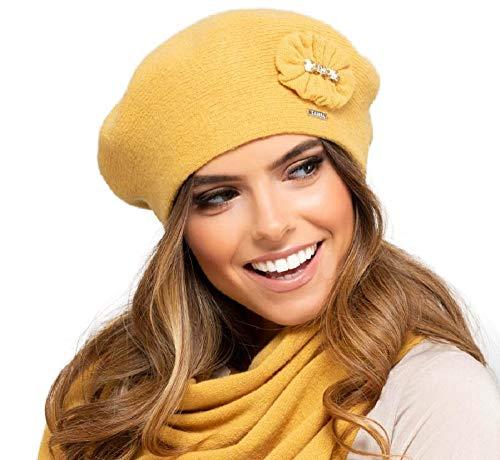 Kamea pesaro - berretto da basket da donna, autunno/inverno giallo miele taglia unica