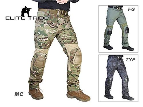"ELITE TACTICAL Militär Taktische Hosen Kampf Gen2 Hose mit Knieschoner (Multicam, XL(36\""))"
