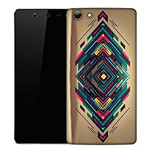 Snoogg Spiral zoyd Designer Protective Back Case Cover For Micromax Canvas Selfie Q348