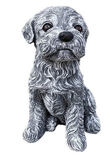 Steinfigur Malteser Hund, Frost- und wetterfest bis -30°C, massiver Steinguss -
