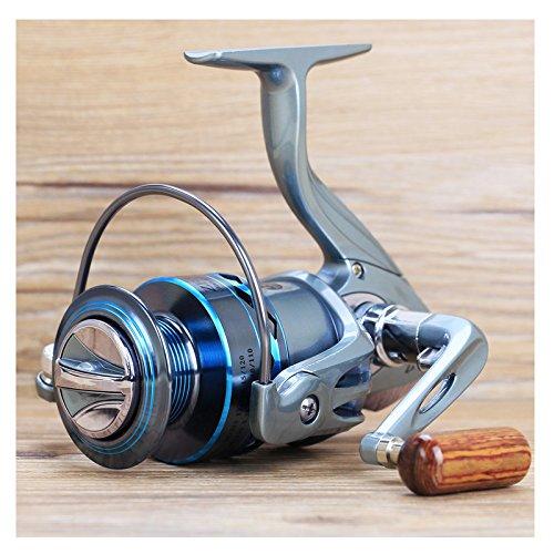 Durable hysenm 5, 1:1 gapless anti-reverse, intercambiabili, pieghevole-mulinello con rocchetto in alluminio con manico in legno per-esche da pesca