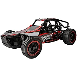 Gizmovine Control remoto RC coche de carreras - RC High Speed Red Buggy, escala de 1/10 - rápido, super control