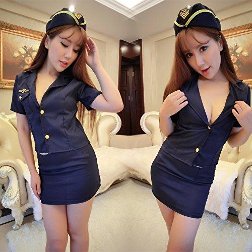 SesexxySexy Dessous, sexy Uniformen, extreme Outfits, Night Clubs, Hostessen, sailor Strumpfhosen, Bars der Frauen, kurze Röcke, andere Größen, Frauen Anzug (mit schwarzen (Sailor Outfit Frauen)