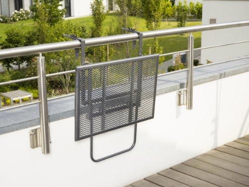 Tavolo Da Terrazzo Pieghevole : Greemotion 416505 tavolino pieghevole da balcone regolabile in