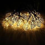 JOJOO Solar Cadena Luces Luces de Linterna de Metal Globo Adorno para jardín, Bodas, Fiestas, al Aire Libre y Navidad, ámbar, Amarillo