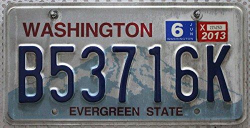 USA Nummernschild WASHINGTON ~ US Kennzeichen plaque d'immatriculation ~ Blechschild