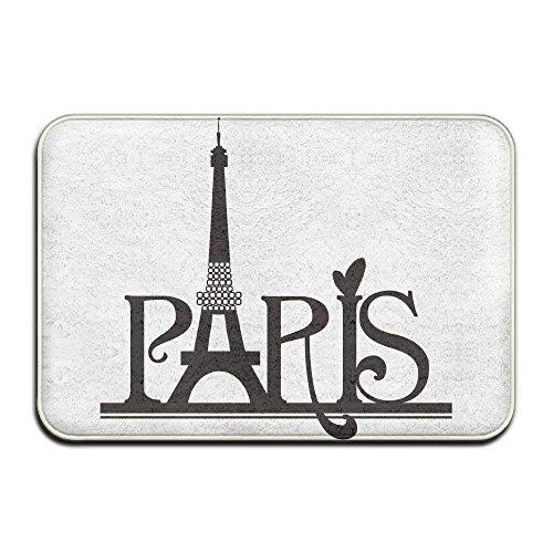 ghkfgkfgk The Eiffel Tower Paris Clipart Designed Non-Slip Flannel Doormat Entrance Floor Rug Indoor Mat Home Decorative 23.6 x 15.7 Inch -