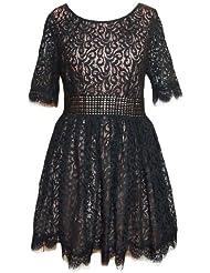 Darling amelia robe en dentelle noir taille s-l