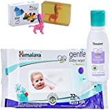 Himalaya Herbals Baby Massage Oil (50ml)+Himalaya Herbals Gentle Baby Wipes (72 Sheets) With Happy Baby Luxurious Kids Soap With Toy (100gm)