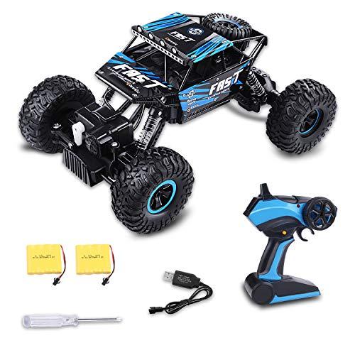 TREE.NB Toy RC Control Remoto del Coche 4WD Off-Road Rock Crawler Power Wheel Monster Racing Truck vehículo 2.4 GHz 3 Canales 4 Ruedas motrices