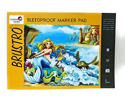 Brustro Bleedproof Marker Pad, 50 Sheets, A3 Size, 70 GSM