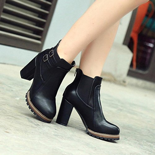 Bottes Femme, Feixiang (md) Bottes À Talons Hauts Pour Femmes Bottines À Plateforme Femme Chaussures Automne Hiver Noir
