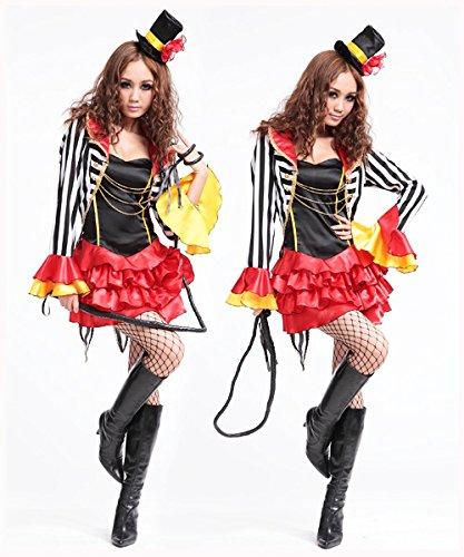 Rot Trainer Kostüm - DLucc Rot Halloween-Hexekostüm Trainer Kleidung anziehen Kleidung Karikaturclown Zauber bar DS Tanzkleid Bühnenkleidung