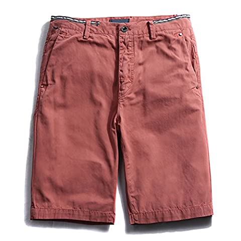 Feicuan Homme Cotton Flat Front Slim Fit Casual Shorts Short