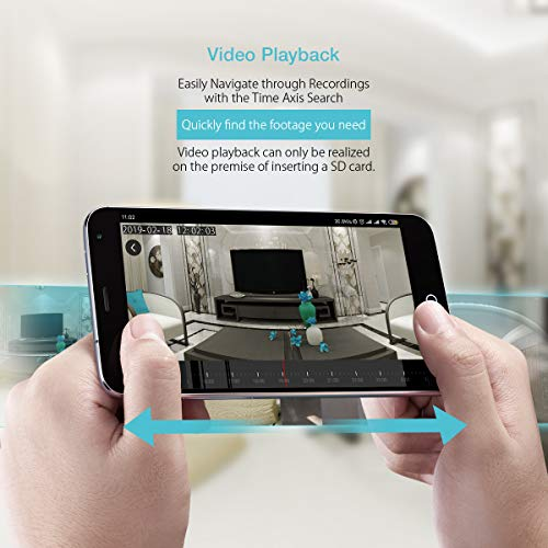 BlitzWolf IP Camera WiFi, 1080P HD Videocamera Sorveglianza Wireless, Audio Bidirezionale Rilevamento Movimento, Visione Notturna, Telecamera di Sicurezza per Animali Domestici/Anziani/Casa Ufficio