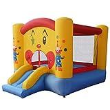 DREAMADE Castello Gonfiabile Castello Giocattolo per Bambini con Scivolo e Rete di Sicurezza da Giardino