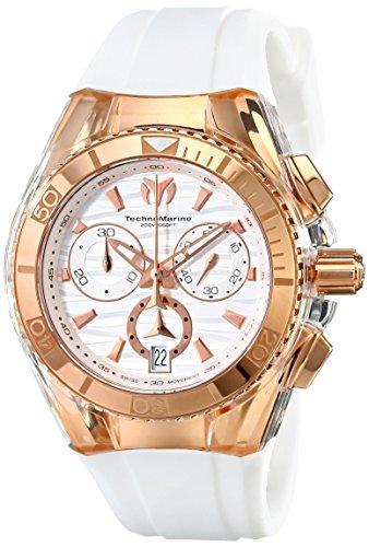 Technomarine Unisex 114045 Cruise Star Reloj blanco analogico Suizo- Reloj de pulsera