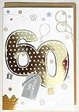 A4 XXL Geburtstagskarte 60 gold mit Applikation