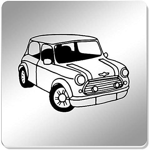 6 x 'Mini Cooper Car' 95mm Mirror Coasters