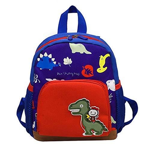 Gorgebuy 1244/5000 Mochila para niños pequeños - Cute 3D Dragon Dinosaur Kindergarten Schoolbags - Bolsas de Dibujos Animados para bebés de 1 a 5 años