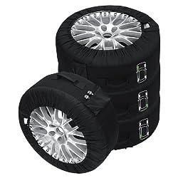 Petex Reifentaschenset Premium 4-teilig passend für alle Reifentypen bis 245 mm (14-18