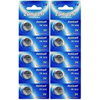 Eunicell CR1632 Lithium Blister Pack 3V 3 Volt Coin Cell Batteries (10 pcs) by Eunicell preisvergleich bei billige-tabletten.eu