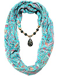 """Scarf Necklace California Green Necklace Scarf Pendant Scarf Stole Wrap Muffler Scarves ORDER NOW """""""