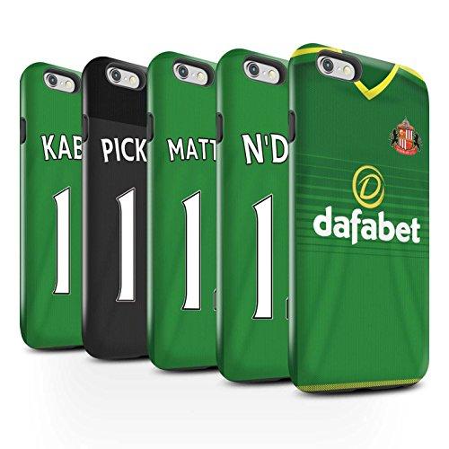 Officiel Sunderland AFC Coque / Brillant Robuste Antichoc Etui pour Apple iPhone 6+/Plus 5.5 / Pack 24pcs Design / SAFC Maillot Extérieur 15/16 Collection Pack 24pcs