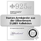 SilberDream Armband Raute matt/glänzend 925 Sterling Silber 19cm Damen Silberarmband SDA430 - 3