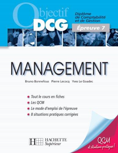 Management : Epreuve 7 du DCG